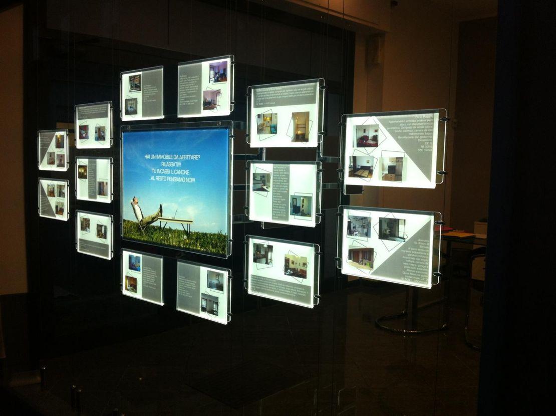 Illuminazione Per Vetrinette : Schermi o pubblicitario i a led per negozi e vetrine