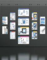 WW-LED-LT: espositore a LED da parete per vetrine